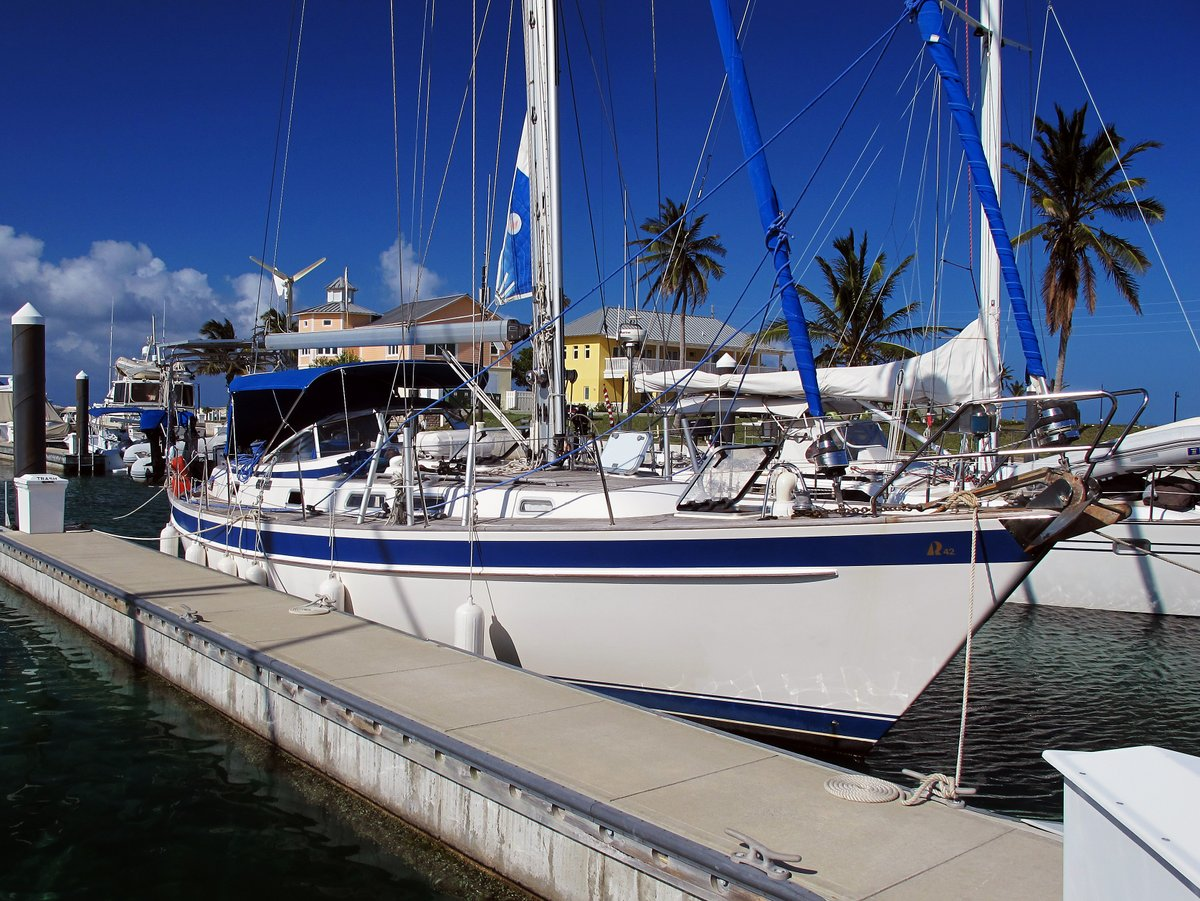 Alba in Emerald Bay Marina, Bahamas