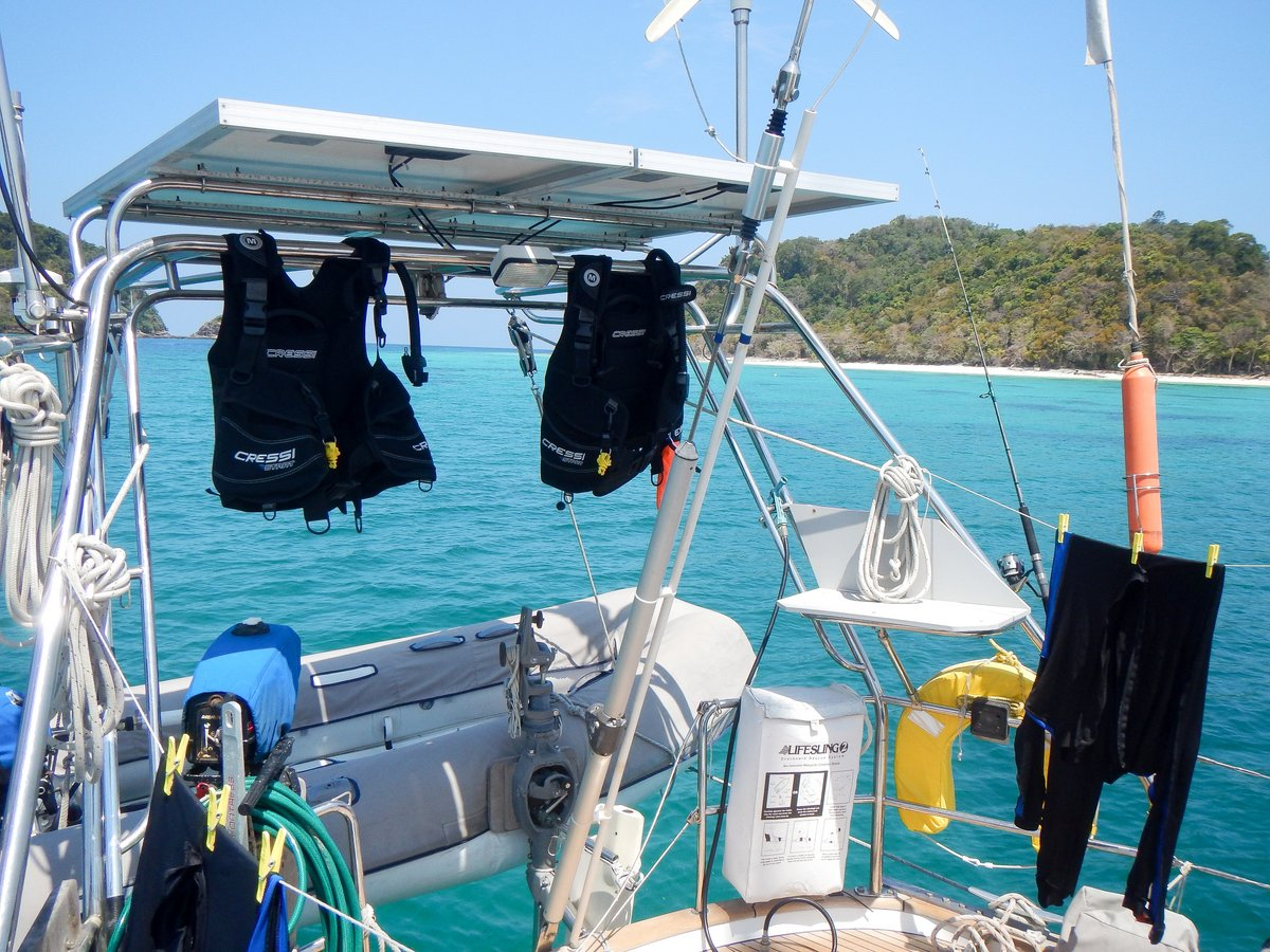 Dive gear drying at Rok Nok