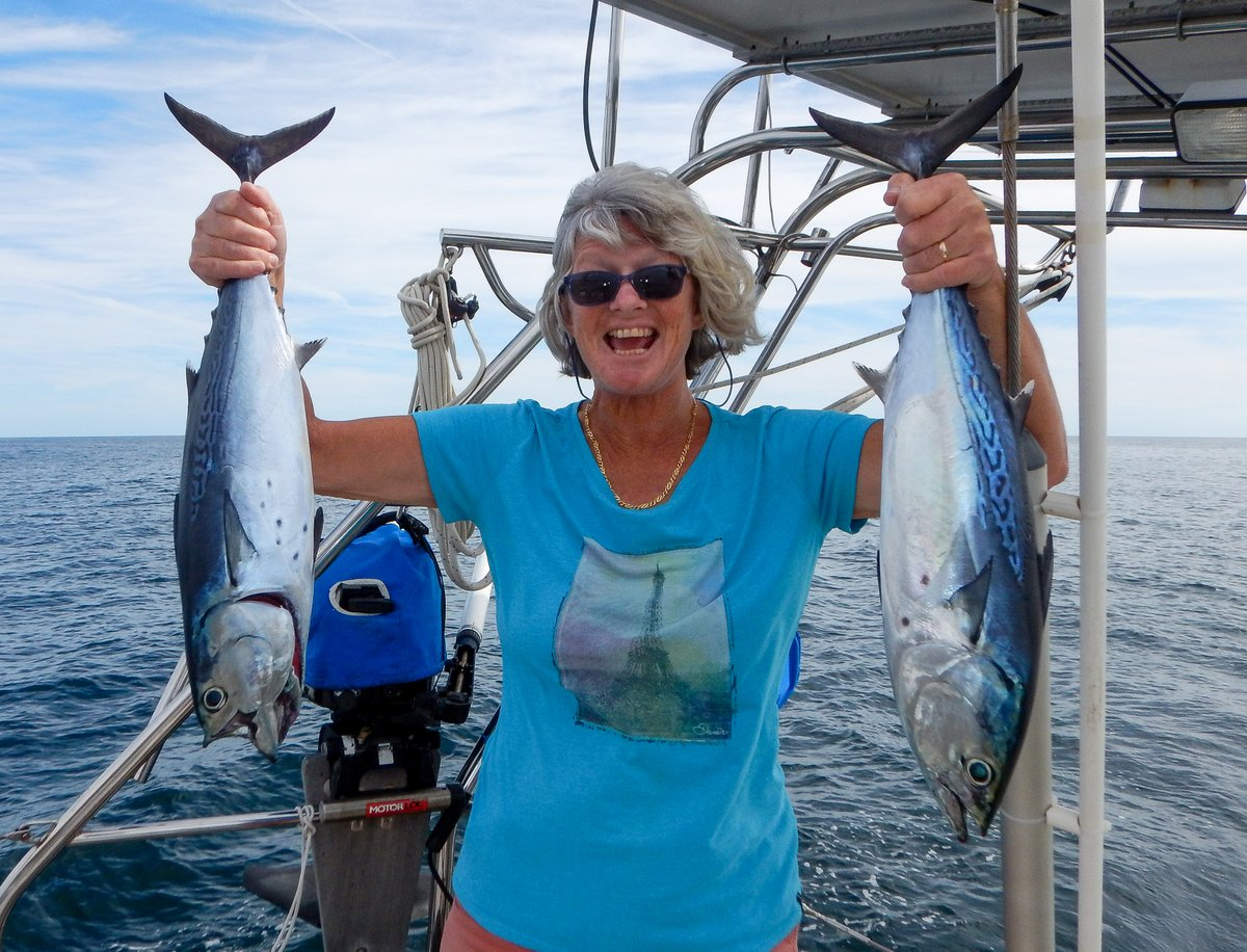 Glenys caught two Bonito