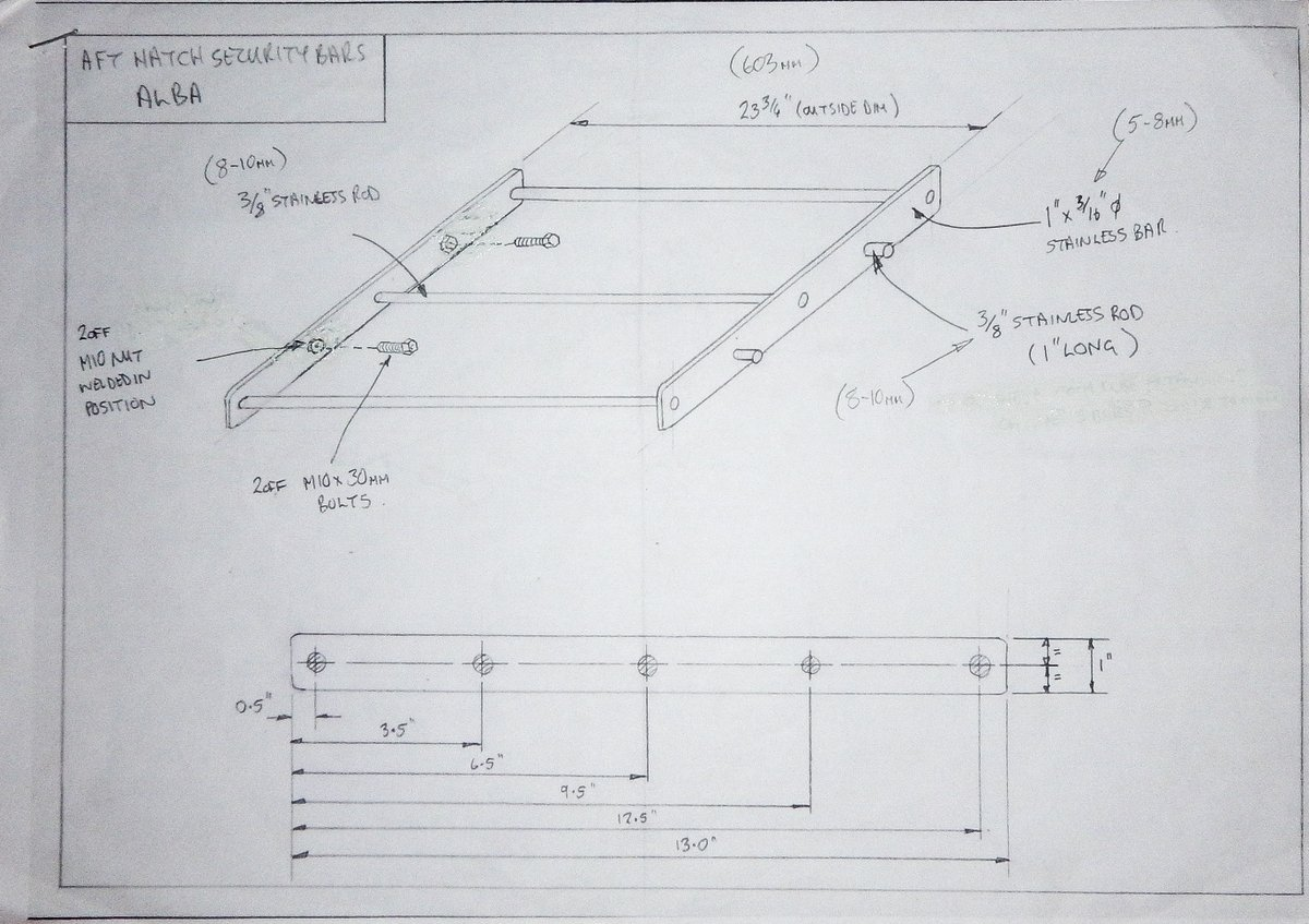 Design of Aft Hatch Bars